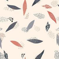 padrão floral abstrato sem emenda. deixa o fundo desenhado artístico vetor