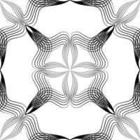 ornamento abstrato arabesco linear sem costura padrão artístico linha vetor