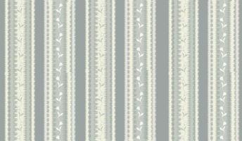 floral listrado padrão sem emenda ornamento abstrato linha folhas de flores vetor