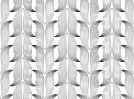 padrão de linha floral sem costura abstrata. enfeite de flor em forma de lótus vetor
