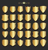 Escudos de ouro vetor