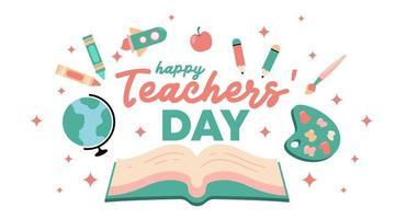 feliz dia dos professores ilustração vetorial de fundo vetor