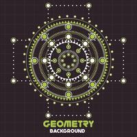 Geometria retro velha modelo de Design de fundo estilo vintage vetor