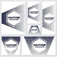 fundo de estilo vintage de meio-tom Design Template