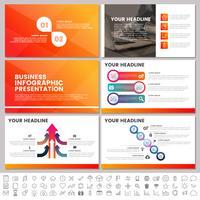 Elementos modernos de infográficos para modelos de apresentações para banner vetor