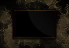 fundo moldura de luxo dourado 0907 vetor