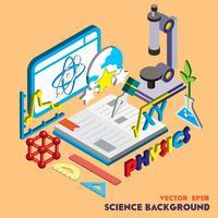 ilustração do conceito conjunto de ciência gráfica de informação vetor