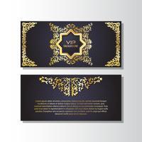 Modelo de Design de estilo de panfleto de fundo dourado vetor