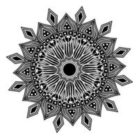 meditação étnica relaxe design de arte de mandala para o fundo do modelo vetor