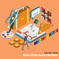 ilustração do conceito conjunto de educação gráfica de informação vetor