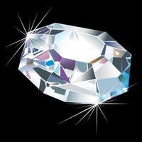 ilustração de diamante de luxo vetor
