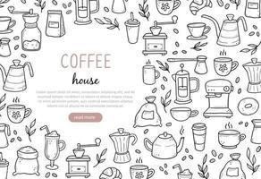 ilustração de banner de café no site vetor