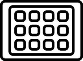 ícone de linha para ipad vetor