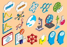 ilustração do conceito de conjunto de ícones de ciência gráfica de informação