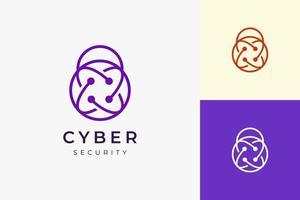 logotipo de tecnologia de segurança ou proteção em formato de cadeado simples vetor