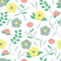 padrão sem emenda com lindas flores. vetor
