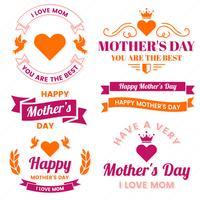 Rótulo de vetor de dia das mães para banner