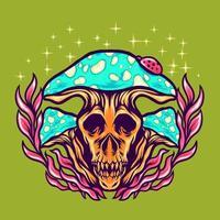 ilustração de cogumelo assustador vetor