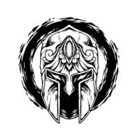a silhueta do capacete espartano vetor