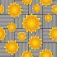 Flor sem costura de fundo vector