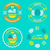 Logotipo de vetor de dia de Páscoa para banner