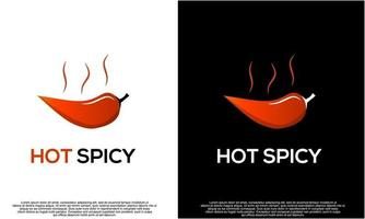 design de logotipo de pimentão quente, design de logotipo picante em fundo isolado, vetor