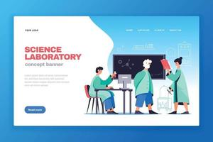 banner da web do laboratório de ciências vetor