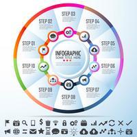 Modelo de design de infográficos de círculo
