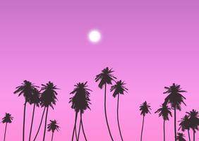 Palmeiras contra o céu do sol vetor