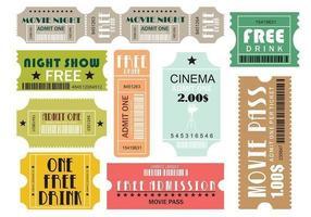 Pacote de vetores de ingressos de filme e eventos dois