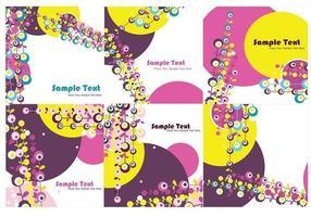 Papéis de parede de vetores de círculos abstratos
