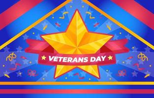 fundo do dia dos veteranos vetor