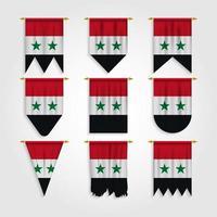 bandeira da síria em diferentes formas, bandeira da síria em várias formas vetor