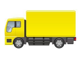 Ilustração do caminhão isolada em um fundo branco. vetor