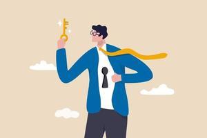 desbloquear o verdadeiro potencial, seu eu ideal para o sucesso na carreira, nos negócios vetor