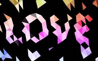 luz multicolor, layout poligonal abstrato de vetor de arco-íris.