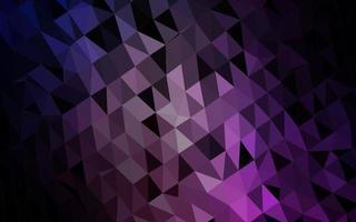textura de mosaico de triângulo de vetor roxo e rosa escuro.
