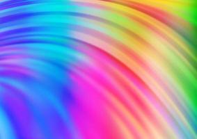 luz multicolor, modelo de vetor de arco-íris com fitas dobradas.