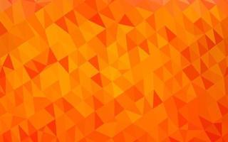 fundo abstrato do polígono do vetor da luz laranja.