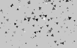 layout de vetor cinza claro prata com linhas, triângulos.