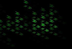 layout de vetor verde escuro com linhas planas.