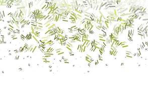 textura de vetor verde claro com linhas coloridas.