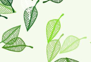 layout de esboço de vetor verde claro.