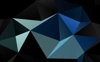 textura de triângulo embaçada vector azul escuro.