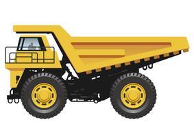Caminhão basculante grande isolado em um fundo branco. vetor