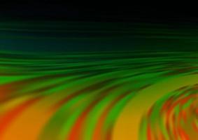 multicolor escuro, padrão de bokeh moderno de vetor de arco-íris.