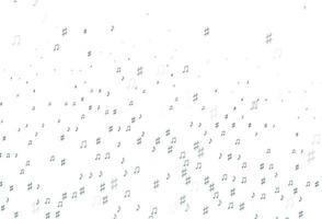 padrão de vetor azul claro com elementos de música.