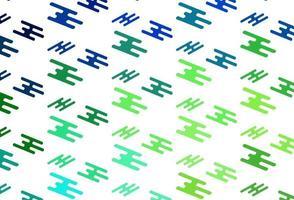 padrão de vetor verde e vermelho claro com linhas estreitas.