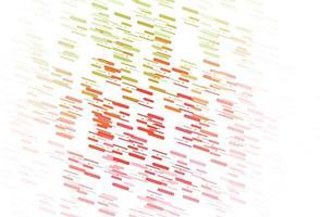 pano de fundo de vetor verde e vermelho claro com linhas longas.