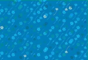 textura de desenho de vetor azul e verde claro.